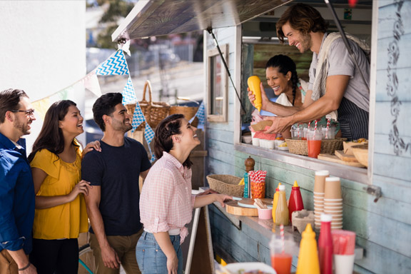 Food truck patrons