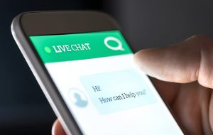 Live Chat on phone